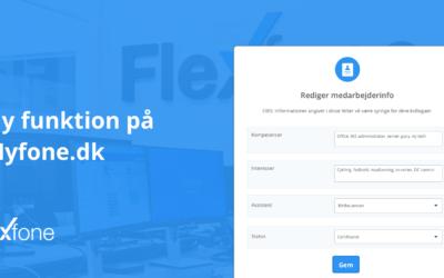 Rediger dine medarbejderinfo på Myfone.dk