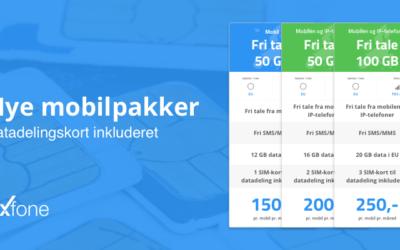 Datadelingskort inkluderet i mobilpakker