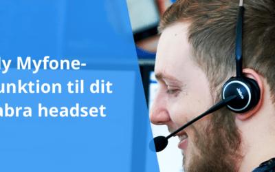 Besvar opkald i Myfone direkte på dit Jabra headset