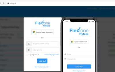 Brug dit Microsoft login på Myfone