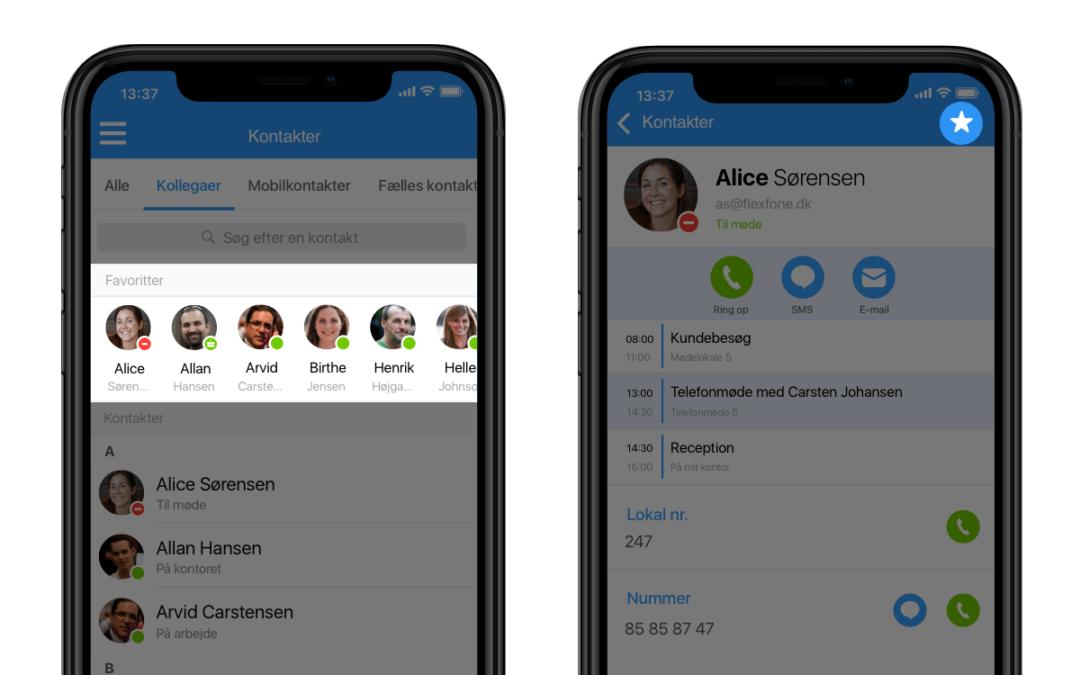 Dine favoritter, nu i Myfone mobil app'en
